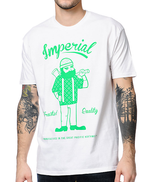 Imperial Motion Lumberjack White T-Shirt