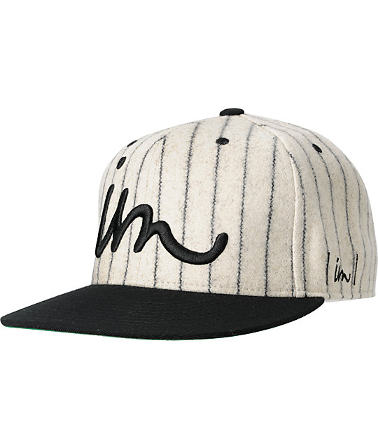 Imperial Motion Minors Curser Black Pin Stripe Hat