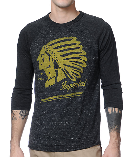 Imperial Motion Native Black Raglan Baseball T-Shirt