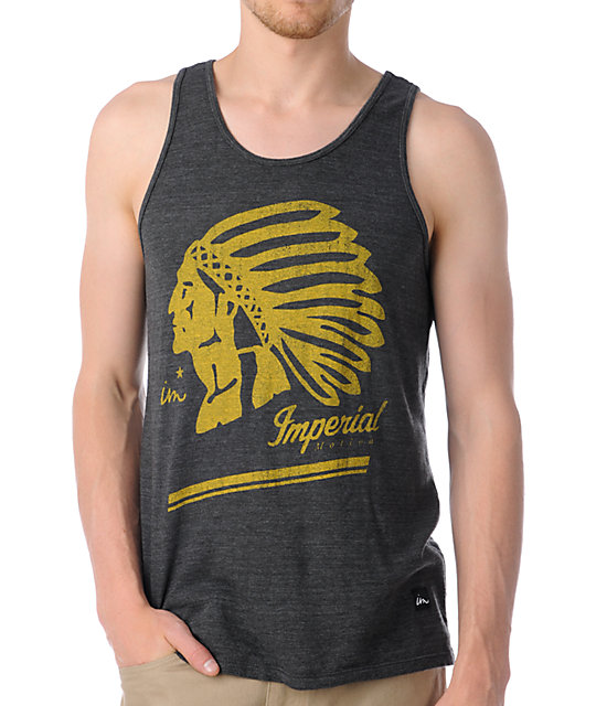 Imperial Motion Native Charcoal Tank Top