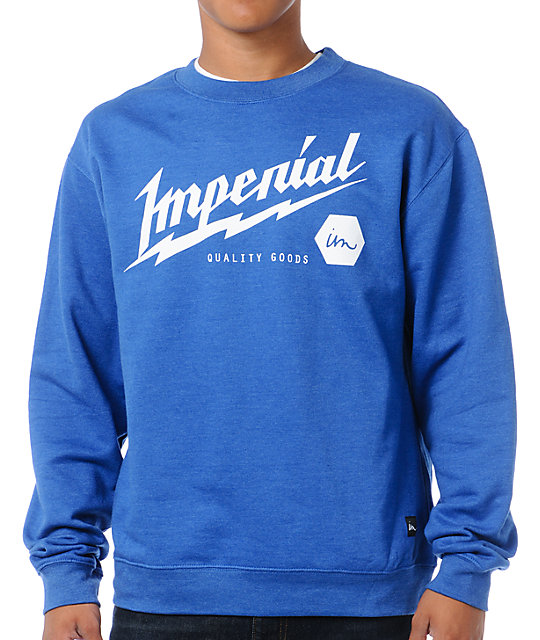 Imperial Motion Power Royal Blue Crew Neck Sweatshirt