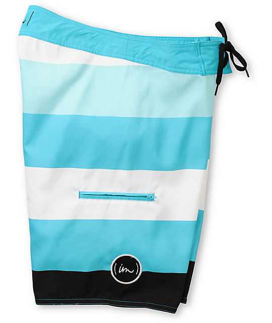 Imperial Motion Rufus Blue Striped Board Shorts