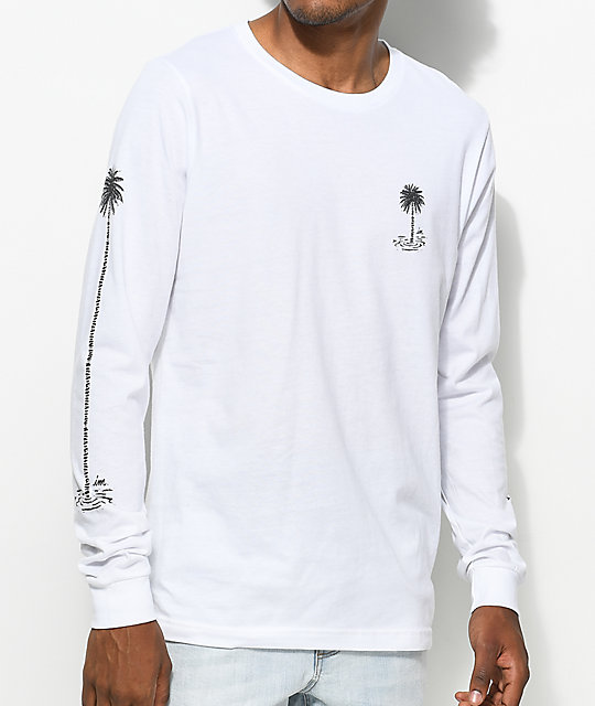 Imperial Motion Seeker Stack White Long Sleeve T-Shirt