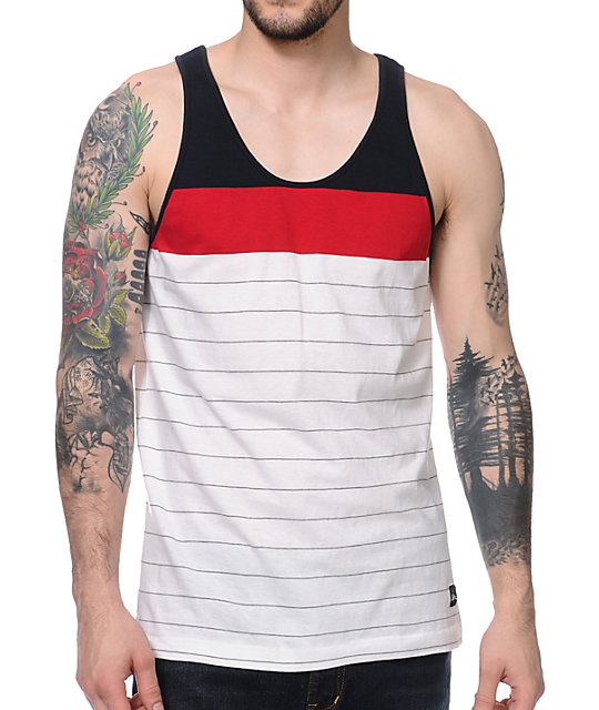 Imperial Motion Starter Navy, Red & White Tank Top