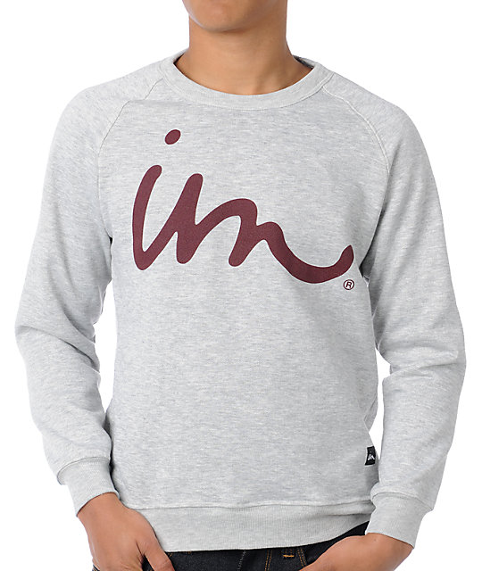 Imperial Motion The Curser Heather Grey Crew Neck Sweatshirt