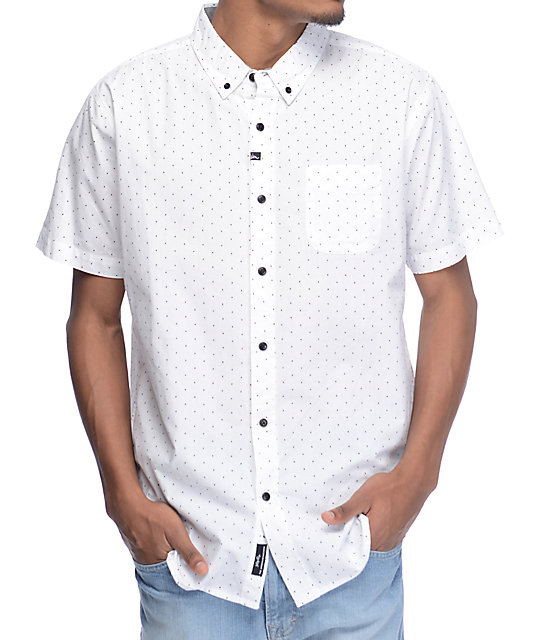 Motion Winston Woven White Button Up Shirt