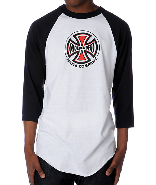 Independent Black & White Baseball T-Shirt