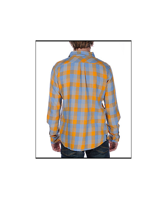 Insight The Pervert Orange Checkered Flannel Shirt