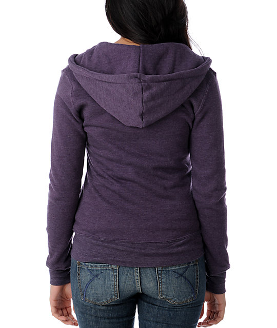 Insound Heather Purple Full Zip Up Hoodie
