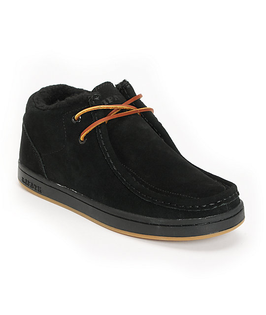 Ipath Cat Shearling Black Suede Shoes