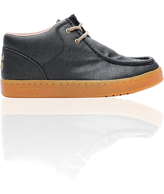 Ipath Cats Black Waxed Hemp & Gum Shoes