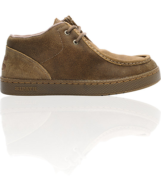 Ipath Cats Waxed Taupe Suede Shoes