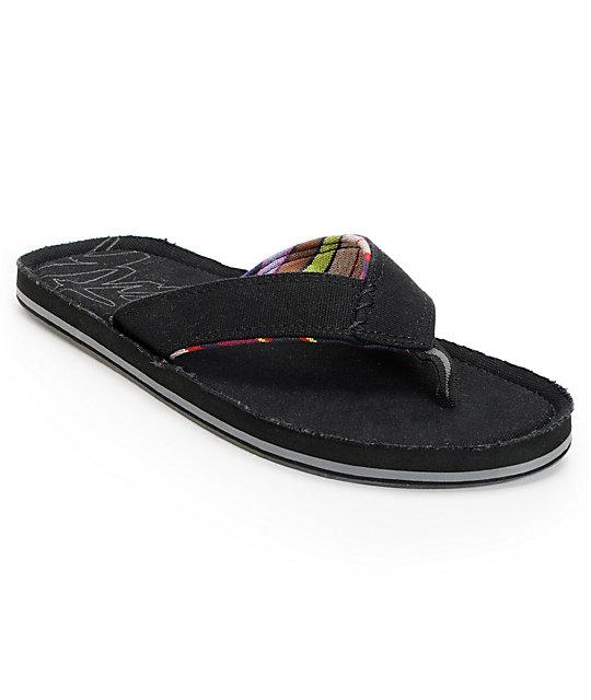 Ipath Drifter Organic Canvas Black Sandals