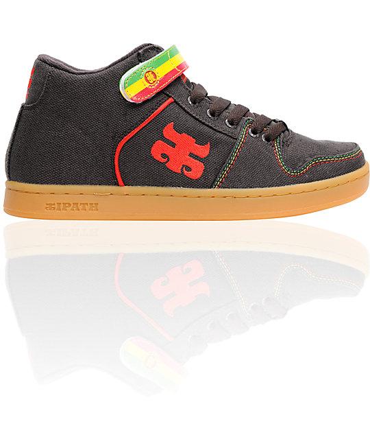 low priced 251bd f3d22 ... Ipath Grasshopper Brown Hemp Rasta Skate Shoes . ...