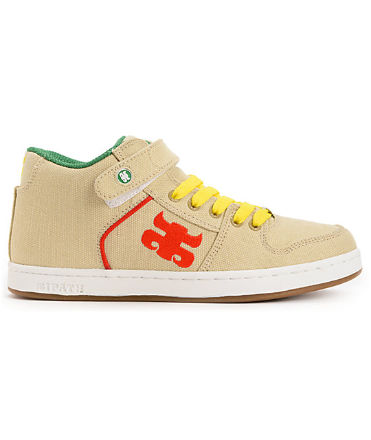 Ipath Grasshopper Natural & Rasta Hemp Shoes