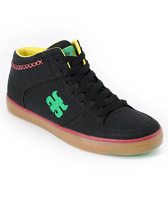 Ipath Reed Black Rasta Hemp Skate Shoe