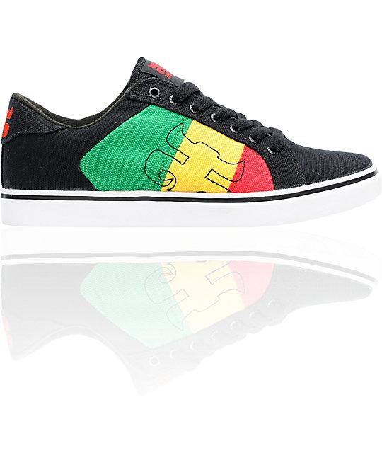 Ipath Stash Vulc Black Rasta Hemp Skate Shoes