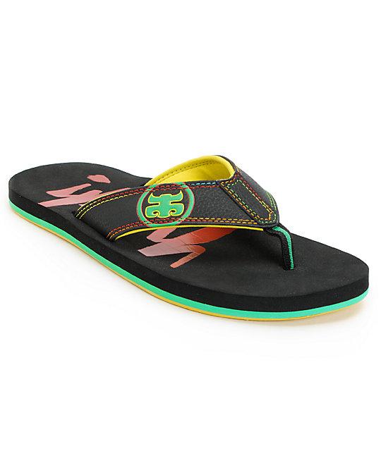 Ipath Washington Rasta & Black Sandals