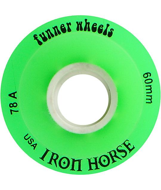 Iron Horse The Funner Green 60mm Longboard Wheels