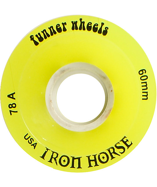 Iron Horse The Funner Yellow 60mm Longboard Wheels