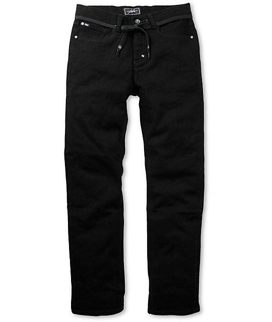 JSLV Blunt Black Regular Fit Stretch Jeans