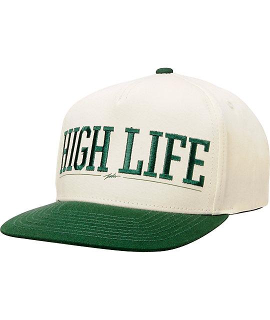 JSLV High Life Natural & Green Snapback Hat