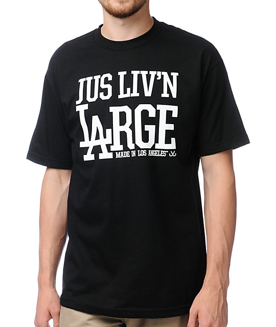 JSLV Livin Large Black T-Shirt