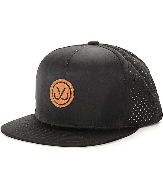 JSLV Perforated Black Trucker Hat