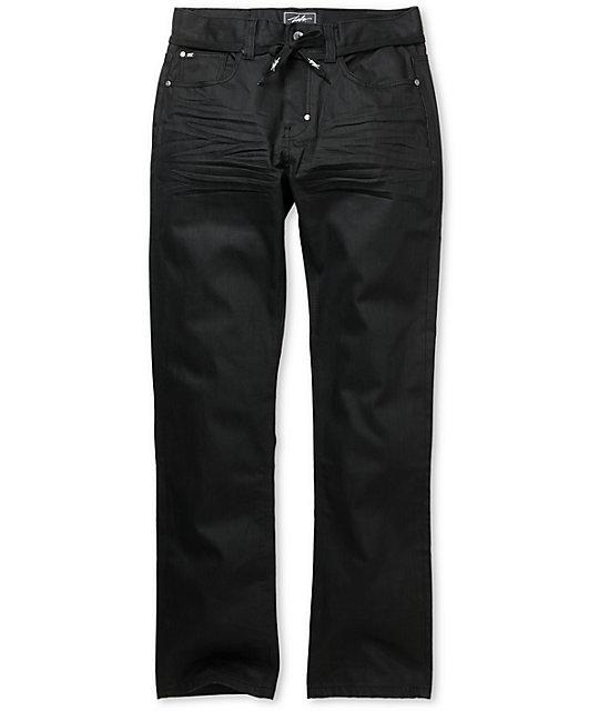 JSLV Proper Denim Black Resin Waxed Regular Fit Jeans