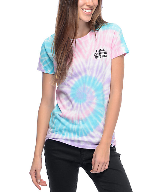 JV by Jac Vanek I Hate Everyone Tie Dye T-Shirt