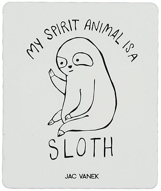 Spirit Pegatina Sloth By Jac Jv Vanek FJlc3TK1