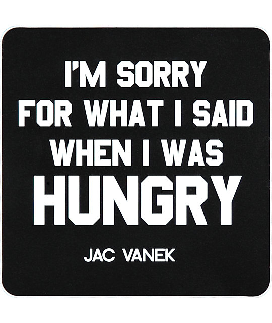 Jac Vanek Hungry Sticker