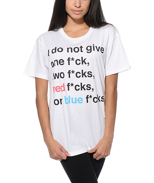 Jac Vanek Red F*cks Blue F*cks T-Shirt