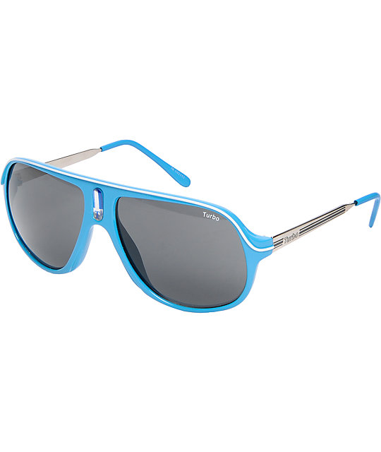 Jack Martin, Co. Brennan Huff Turbo Turquoise Sunglasses