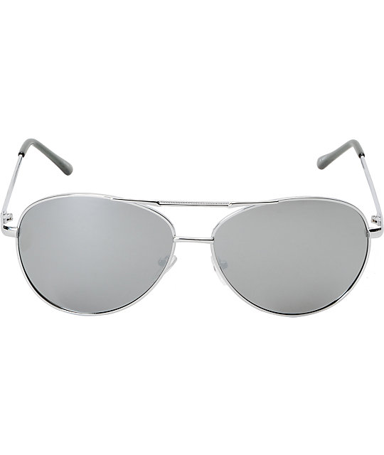 Jack Martin Bulletproof Polarized Chrome Aviator Sunglasses