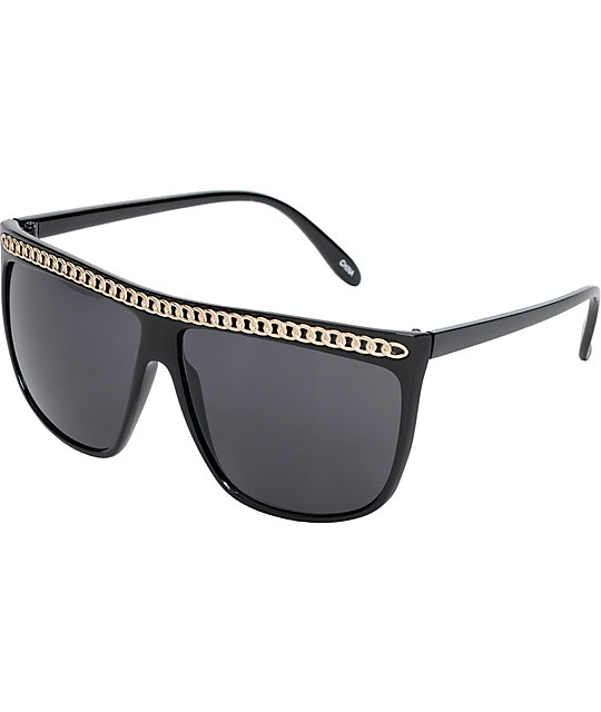 Jack Martin Catalina Wine Mixer Chain Sunglasses