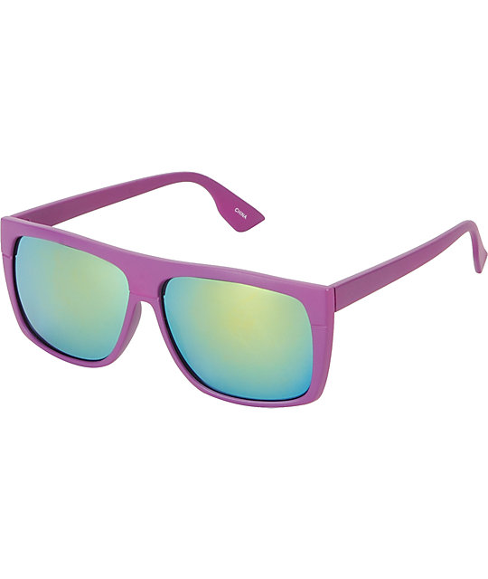 Jack Martin Cube Steak Matte Purple Sunglasses