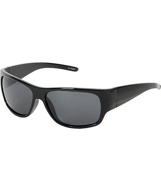 Jack Martin Free The Mahi Black Polarized Sunglasses