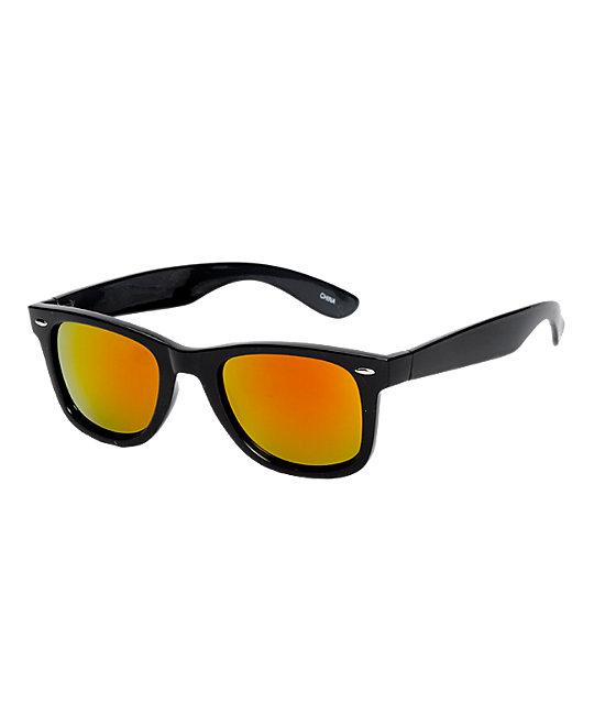 Jack Martin Frisky Business Black & Fire Red Sunglasses
