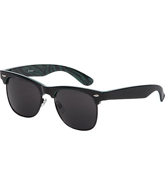 Jack Martin Frisky Business Black & Print Sunglasses