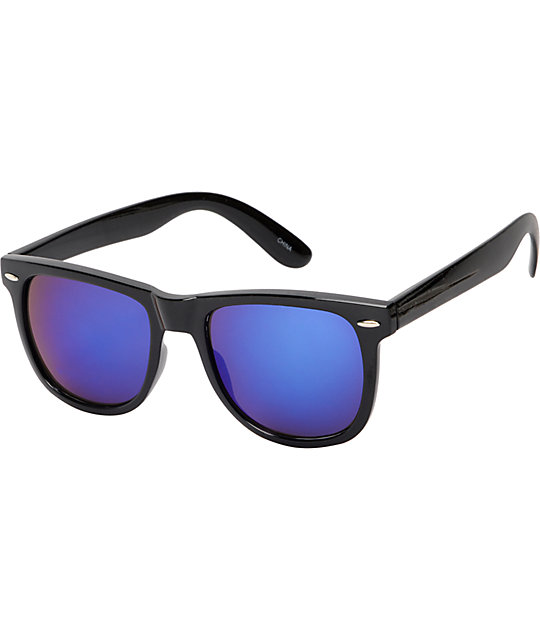 Jack Martin Frisky Business Black & Purple Sunglasses