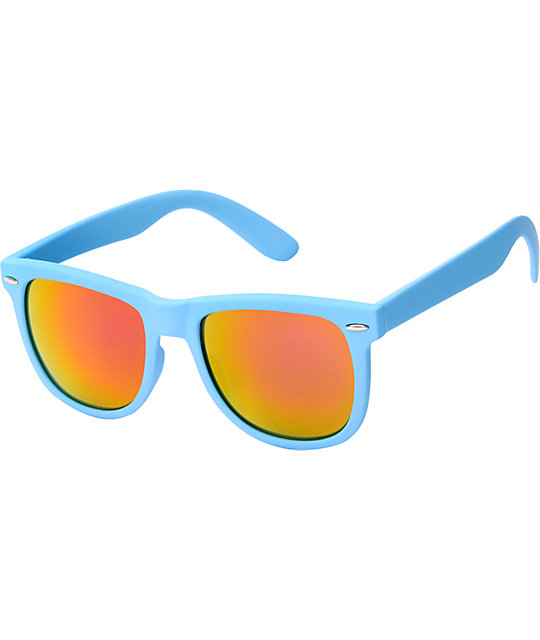 Jack Martin Frisky Business Matte Cyan & Fire Sunglasses