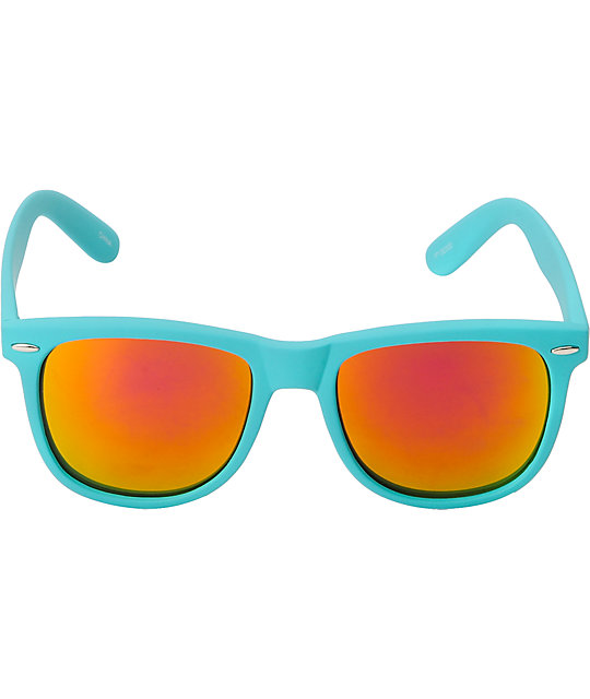 Jack Martin Frisky Business Matte Turquoise & Fire Sunglasses