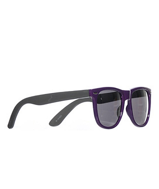 Jack Martin Frisky Business Purple & Mirror Sunglasses