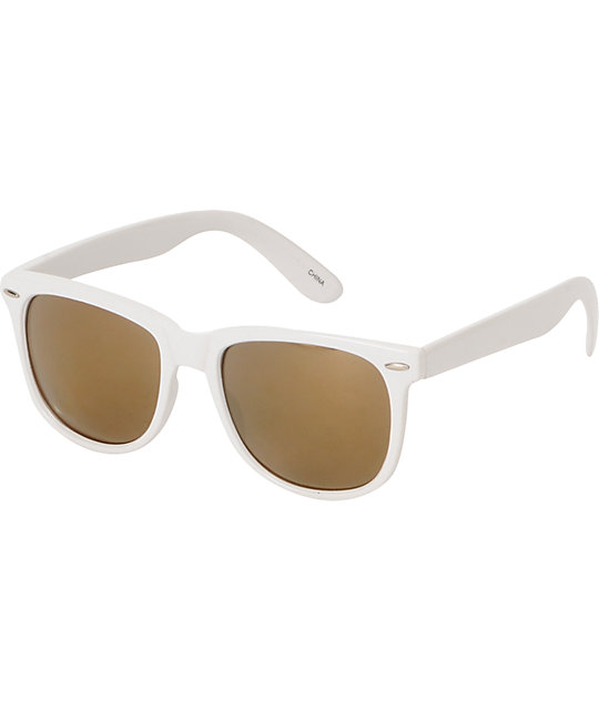 Jack Martin Frisky Business White & Gold Sunglasses