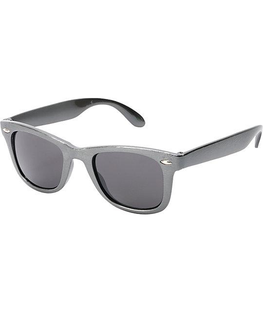 Jack Martin Frisky Times Grey Woodgrain Sunglasses