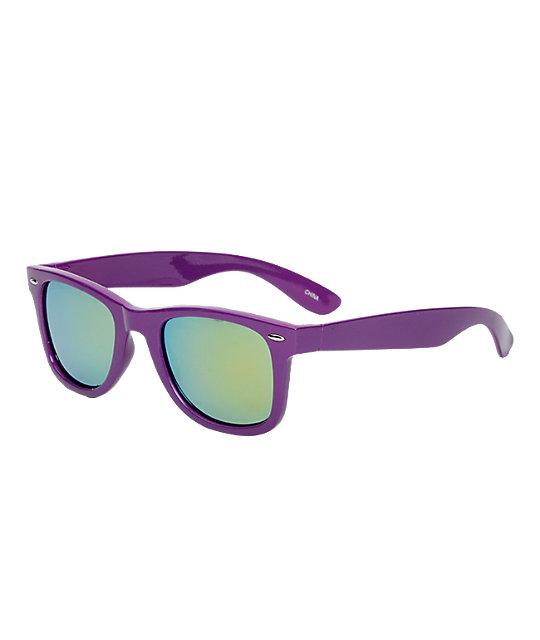 Jack Martin Frisky Times Matte Purple Sunglasses