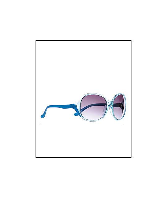 Jack Martin G One Light Blue Crystal Sunglasses