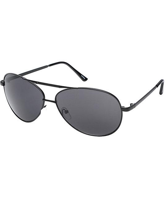 Jack Martin Gardocki Matte Black Aviator Sunglasses