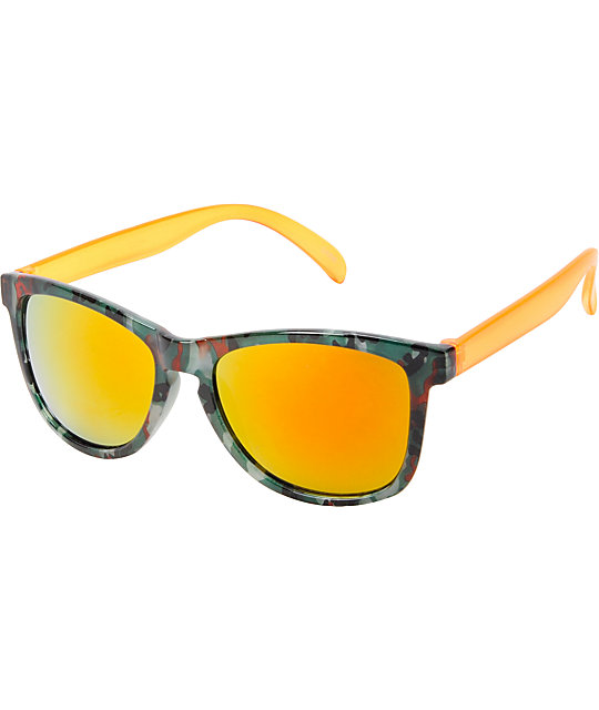 Jack Martin Motosurf Camo & Orange Sunglasses